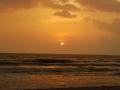 sunset at cherai Beach