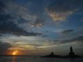 sunset at Kanyakumari
