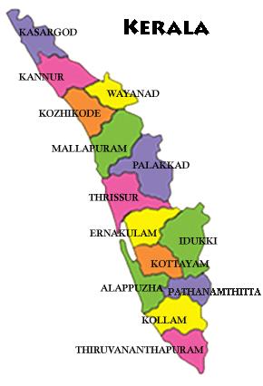 Kerala Map Image Kerala Map | Travels Kerala Kerala Map Image